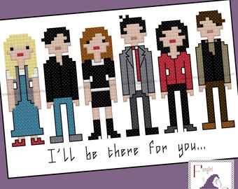 Friends Inspired Cross Stitch - PDF Pattern - INSTANT DOWNLOAD
