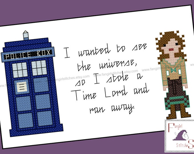 Doctor Who inspired Doctor's Wife Idris Tardis cross stitch - PDF Pattern - INSTANT Download