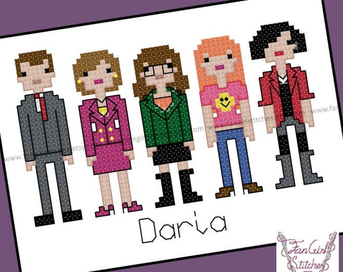 Daria Themed Cross Stitch - PDF Pattern - INSTANT DOWNLOAD