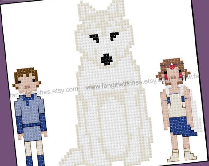 princess Mononoke themed cross stitch pattern - PDF pattern - INSTANT DOWNLOAD
