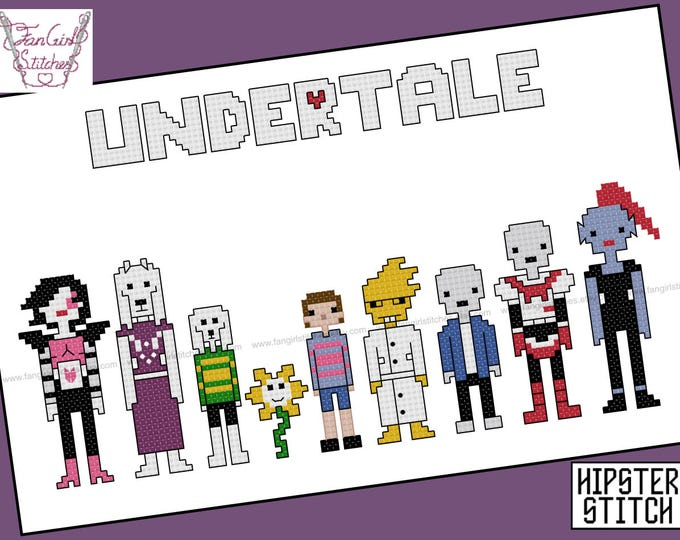 Undertale  themed Cross Stitch - PDF pattern - INSTANT DOWNLOAD