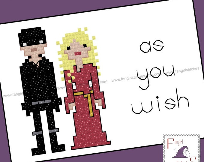 Princess Bride and Westley Inspired Cross Stitch - PDF Pattern - INSTANT DOWNLOAD