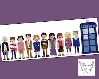 Doctor Who inspired 1st Doctor and Companions cross stitch pattern - PDF pattern - INSTANT DOWNLOAD