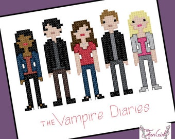 Vampire Diaries Parody Cross Stitch - PDF Pattern - INSTANT DOWNLOAD