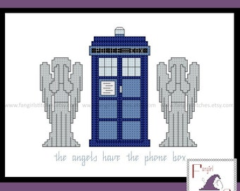 Doctor Who inspired Blink cross stitch - PDF Pattern - INSTANT Download