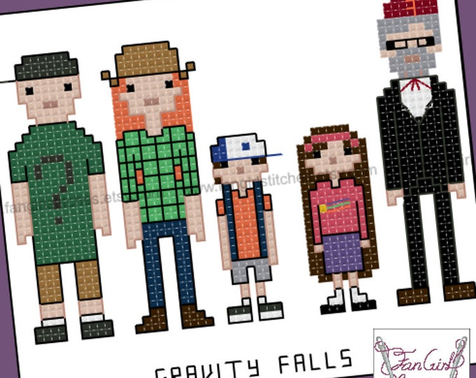 Gravity Falls inspired cross stitch pattern - PDF Pattern - INSTANT DOWNLOAD