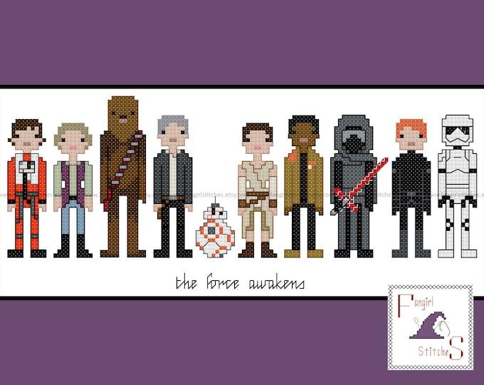 Star Wars themed The Force Awakens cross stitch pattern - INSTANT Download - PDF Pattern