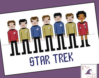 Star Trek Parody Original Series Cross Stitch - PDF Pattern - INSTANT DOWNLOAD