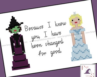 Wicked inspired Cross Stitch - PDF Pattern - INSTANT DOWNLOAD