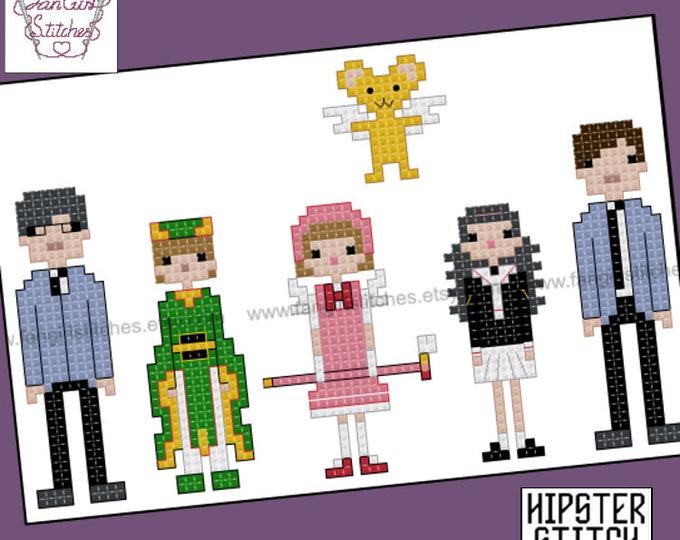 Cardcaptor Sakura inspired cross stitch pattern - PDF pattern - INSTANT DOWNLOAD