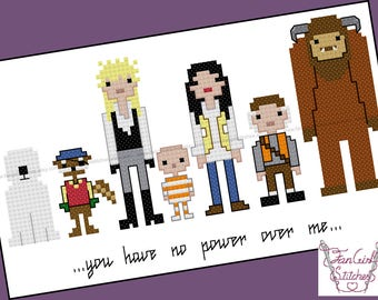 Labyrinth themed Cross Stitch - PDF pattern - INSTANT DOWNLOAD