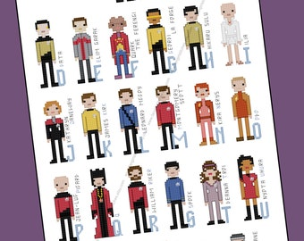Star Trek Parody Alphabet Cross Stitch - PDF Pattern - INSTANT DOWNLOAD