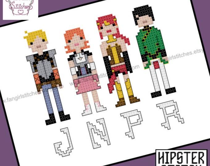 RWBY- Team JNPR cross stitch pattern - PDF pattern - Instant Download
