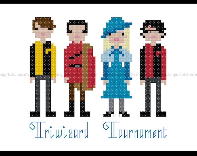 Harry Potter inspired Goblet of Fire Triwizard Tournament cross stitch pattern - PDF Pattern - INSTANT Download