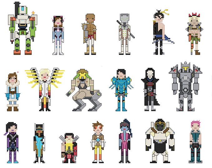 Overwatch themed Cross Stitch - PDF pattern - INSTANT DOWNLOAD