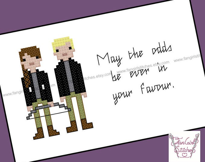 Hunger Games themed Cross Stitch - PDF pattern - INSTANT DOWNLOAD