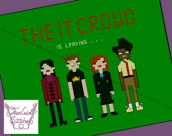 IT Crowd inspired Cross Stitch - pdf pattern - INSTANT DOWNLOAD