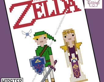 The Legend of Zelda themed Cross Stitch - PDF Pattern - INSTANT DOWNLOAD