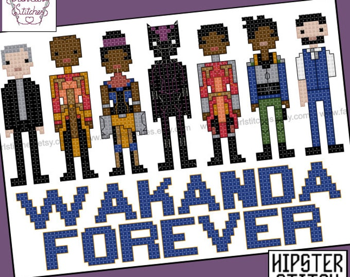 Black Panther Inspired Cross Stitch pattern - PDF Pattern - INSTANT DOWNLOAD
