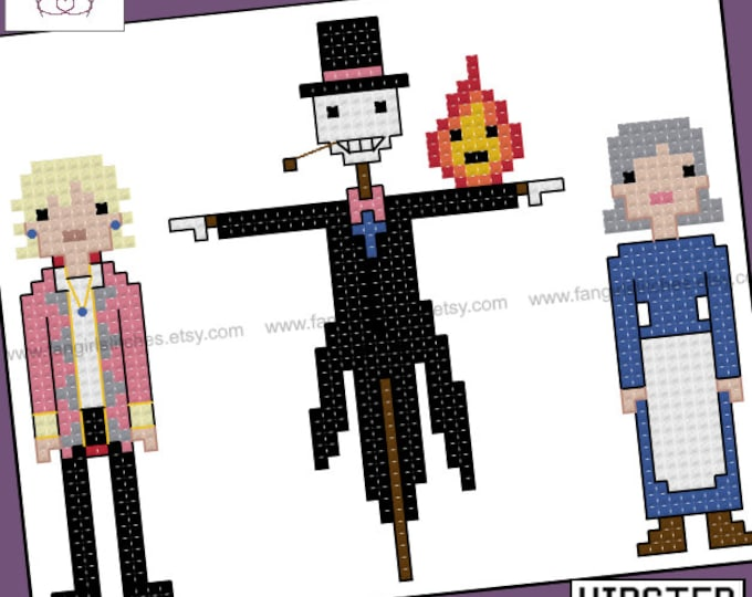 Howl's Moving Castle themed cross stitch pattern - PDF pattern - INSTANT DOWNLOAD