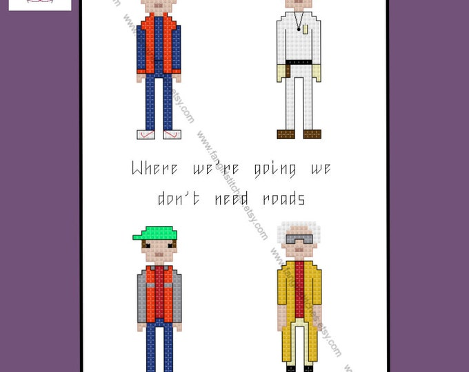 Back to the Future inspired cross stitch pattern - PDF Pattern - INSTANT DOWNLOAD