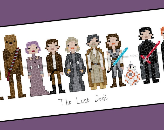 Star Wars themed The Last Jedi cross stitch pattern - PDF pattern - INSTANT DOWNLOAD