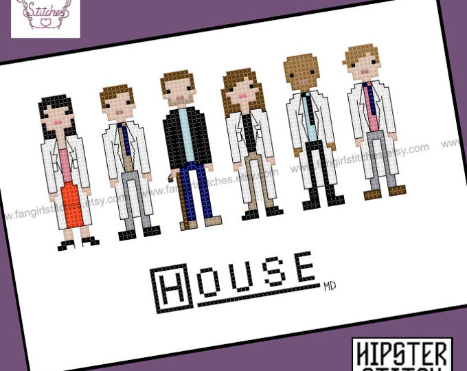 House MD inspired cross stitch pattern - PDF pattern - Instant DOWNLOAD