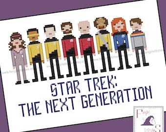 Star Trek Parody The Next Generation Cross Stitch - PDF Pattern - INSTANT DOWNLOAD