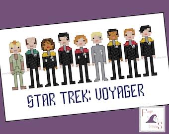 Star Trek Parody Voyager Cross Stitch - PDF Pattern - INSTANT DOWNLOAD