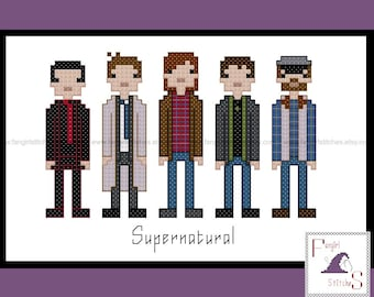 Supernatural Inspired Cross Stitch Pattern - PDF Pattern - INSTANT DOWNLOAD