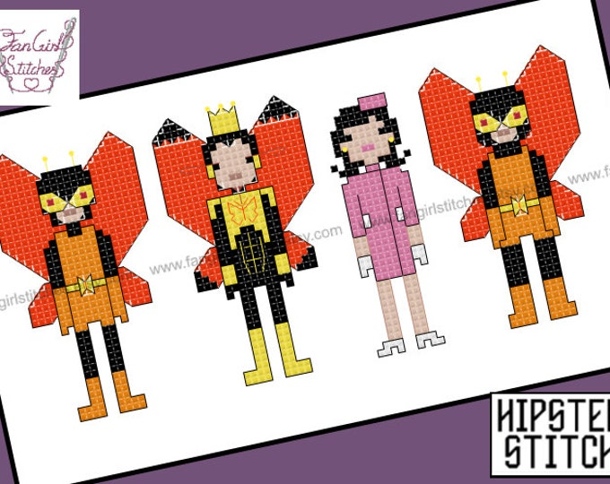 The Monarch - Venture Bros themed cross stitch pattern - PDF pattern - INSTANT DOWNLOAD