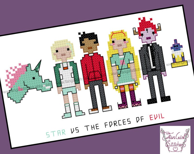 Star vs the Forces of Evil themed cross stitch pattern - PDF pattern - INSTANT DOWNLOAD