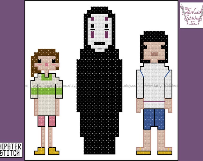 Spirited Away themed cross stitch pattern - PDF pattern - INSTANT DOWNLOAD