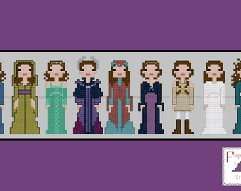 Amidala Padme Star Wars Episode 3 III Revenge of the Sith Cross Stitch - PDF Pattern - INSTANT Download