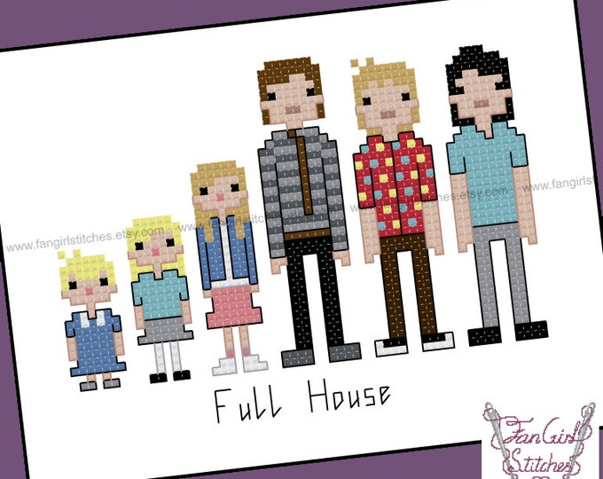 Full House themed Cross Stitch pattern - PDF Pattern - INSTANT Download