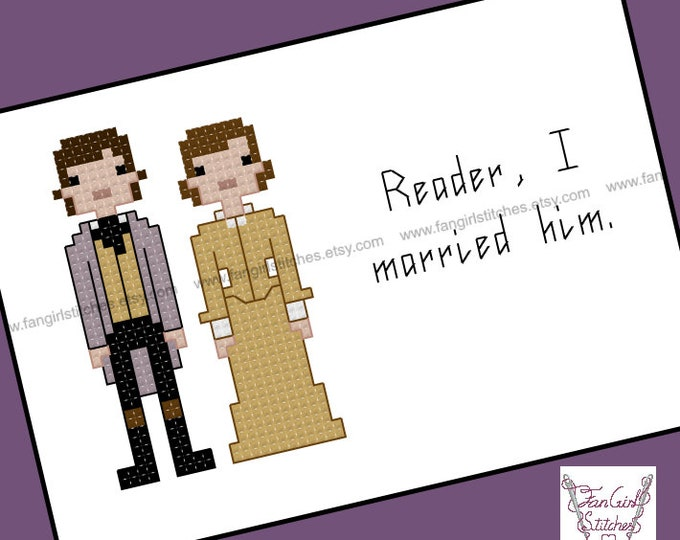 Jane Eyre themed Cross Stitch - PDF pattern - INSTANT DOWNLOAD