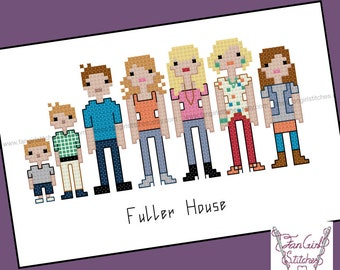 Fuller House inspired Cross Stitch Pattern - PDF Pattern - INSTANT Download
