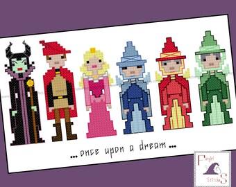Sleeping Beauty Cross Stitch - PDF Pattern - INSTANT DOWNLOAD