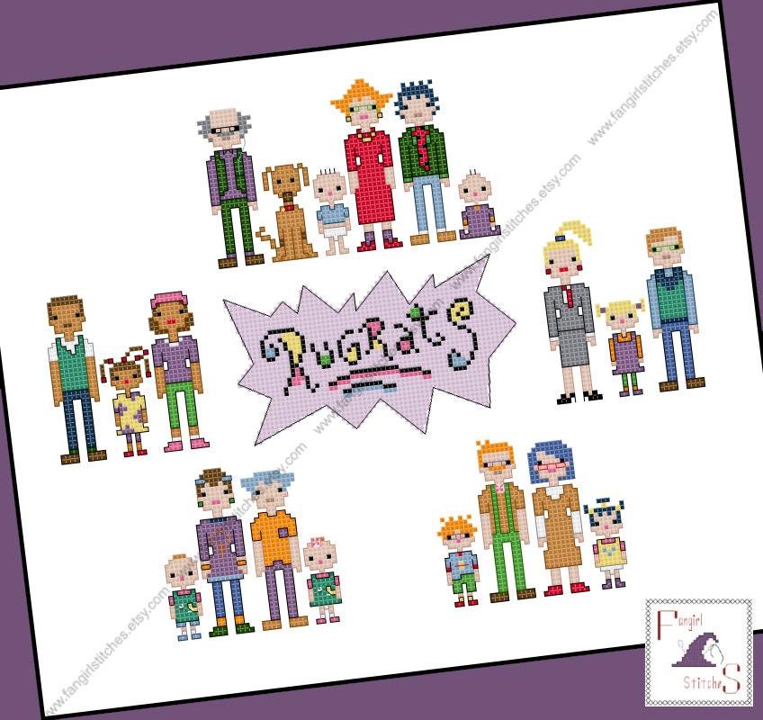 Rugrats Families Cross Stitch Pdf Pattern Instant Download
