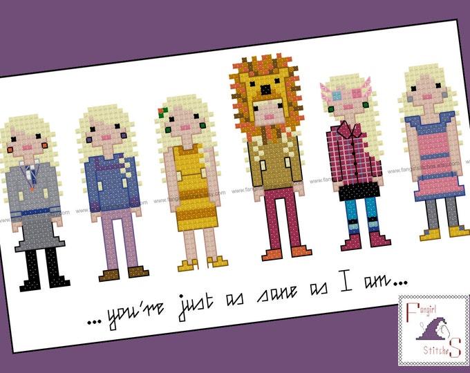 Luna Lovegood parody Cross Stitch pattern - Instant Download PDF