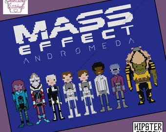 Mass Effect Andromeda themed Cross Stitch - PDF pattern - INSTANT DOWNLOAD
