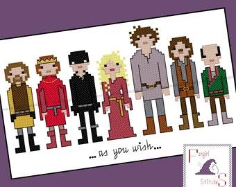 Princess Bride Inspired Cross Stitch - PDF Pattern - INSTANT DOWNLOAD