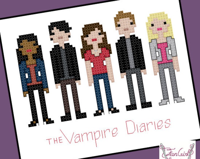 Vampire Diaries Parody Cross Stitch - PDF Pattern - INSTANT DOWNLOAD