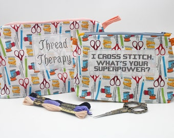 Craft themed storage bags for storing craft projects and supplies - supports Our Rainbow House school in Zambia