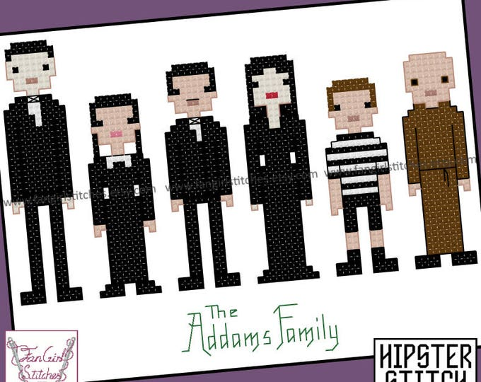Addams Family Themed Cross Stitch - PDF Pattern - INSTANT DOWNLOAD
