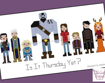 Critical Role Themed Cross Stitch - PDF Pattern - INSTANT Download