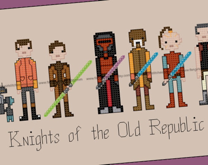 Star Wars: Knights of the Old Republic inspired Cross Stitch - PDF pattern - INSTANT DOWNLOAD