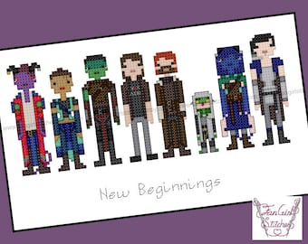 New Beginnings - Critical Role themed Cross Stitch - PDF Pattern - INSTANT download