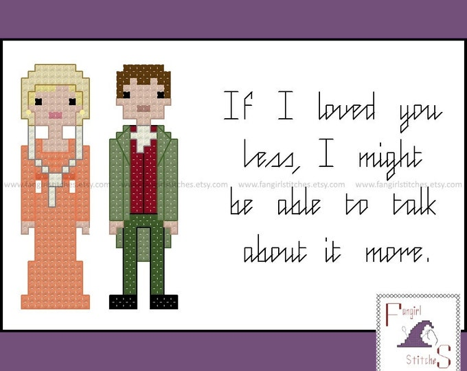 Jane Austen's Emma Characters and Quote cross stitch pattern - PDF pattern - INSTANT Download