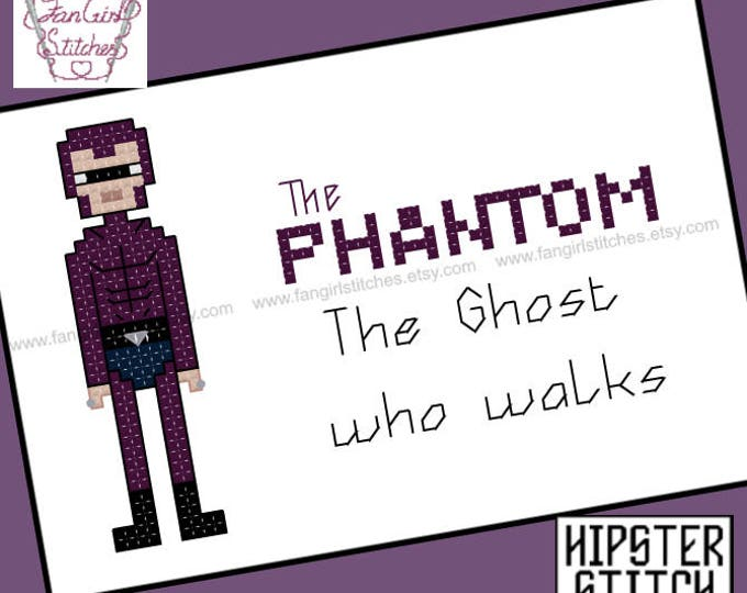 The Phantom themed Cross Stitch - PDF pattern - INSTANT DOWNLOAD